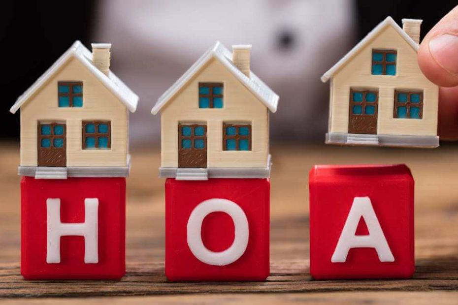 Blocks with the letters HOA (for Home Owners Association)